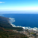 Camps Bay seen from Table Mountain